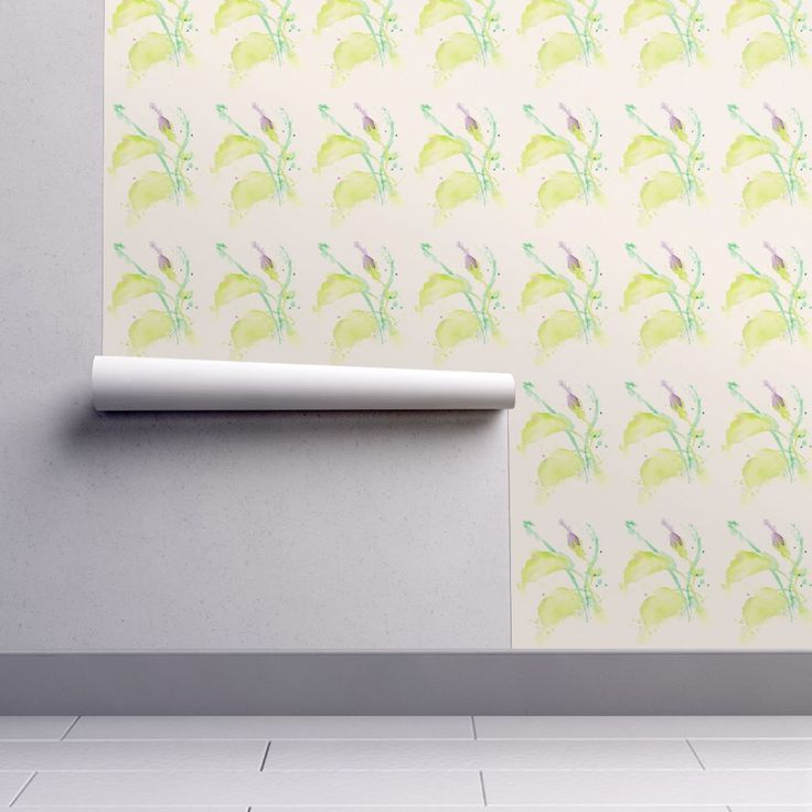 Isobar Durable Wallpaper featuring Delicate_Bud_single by wildflowerfabrics | Roostery Home Decor