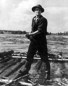 Tauno Palo in Koskenlaskijan Morsian (1937) He actually did the rapids shooting himself and got nearly drown.