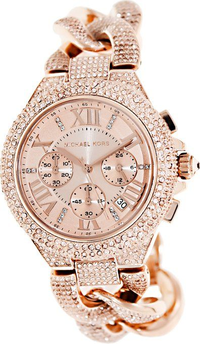 Care how you look: Michael Kors Rose Gold Ladies Watch. For more info click