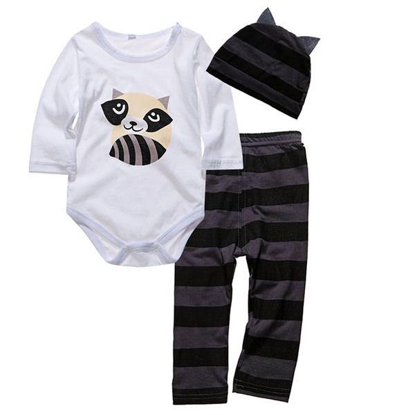 Детские одежды осень с длинными рукавами треугольник Romper шляпа брюки весна и осень младенческой ребенка Parure Осень