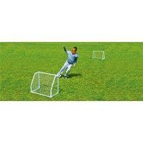 Outdoorspielzeug Fußballtore für Kinder, 4-teilig Früh übt sich, wer ein Meister werden will. Was den Fußball-Nachwuchs betrifft, so kann es nie früh genug sein, mit dem Kicken anzufangen. Ausgerüstet mit diesen Mini-Fußballtoren aus Metall kann die Torjagd beginnen. Die Minitore brauchen wenig Platz, sind schnell aufgebaut und wetterbeständig. Zudem werden ein Fußball und eine Ballpumpe mitgeliefert, sodass der Spaß direkt beginnen kann.  ca. 61 x 30 x 45 cm