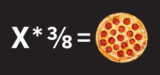 At some point in your life you will be asked to order pizza for a group. When that time comes, don't be afraid. All the information you need to determine how many pies to order can be found in the pizza itself. Because what is a pizza if not a tool for learning fractions?