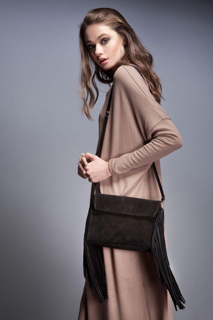 Fringes Clutch #leatherbag