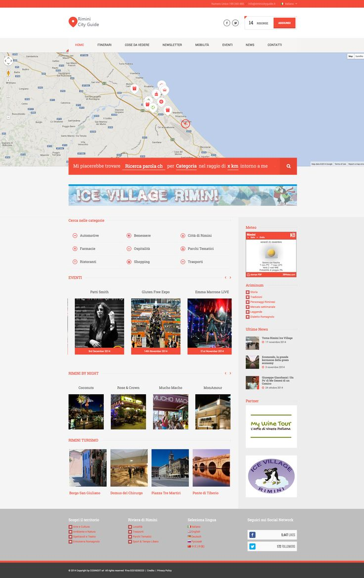 Responsive Rimini City Guide showcases in Ait-Themes Club gallery http://www.riminicityguide.it