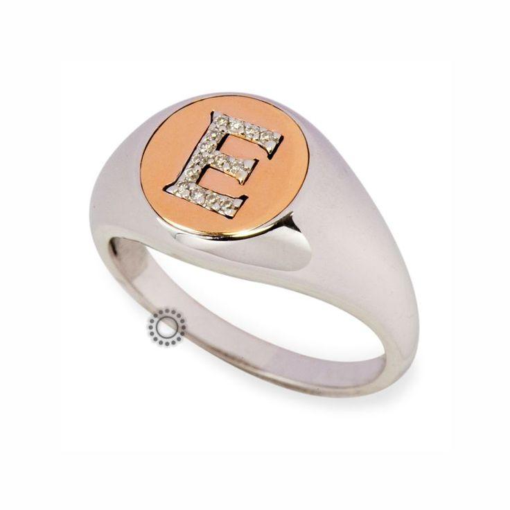 Fashion δαχτυλίδι με μονόγραμμα από λευκόχρυσο Κ18 με μπριγιάν | Δαχτυλίδια με διαμάντια στο e-shop ΤΣΑΛΔΑΡΗΣ στο Χαλάνδρι #δαχτυλίδι #διαμάντια #rings #diamonds