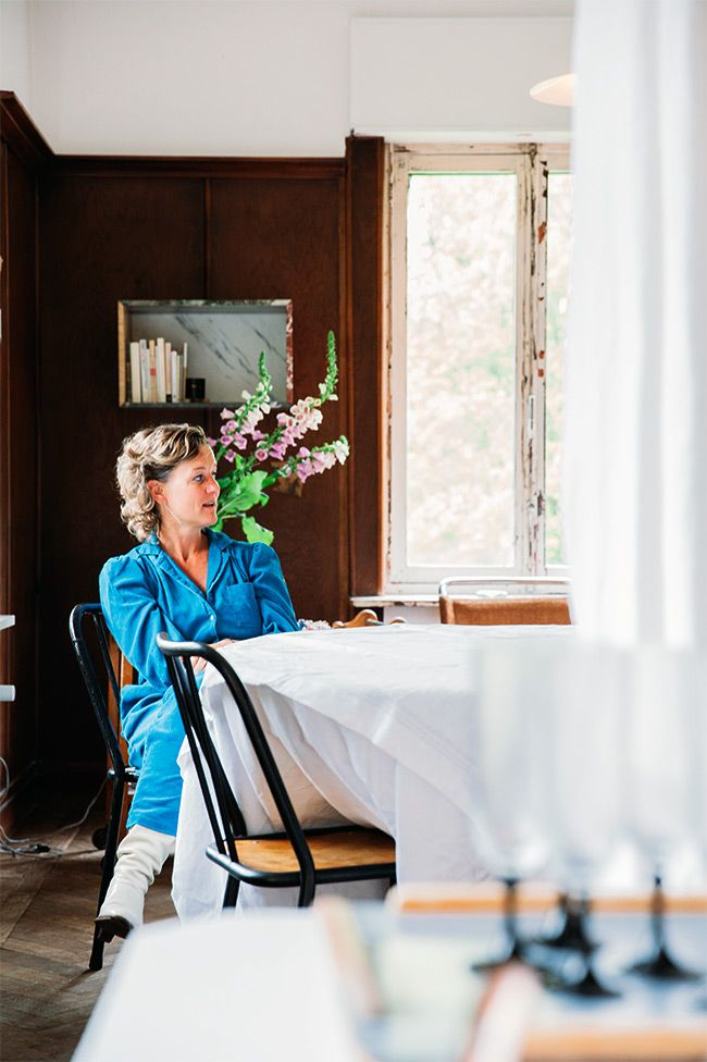 Interior designer Elise Van Thuyne at home