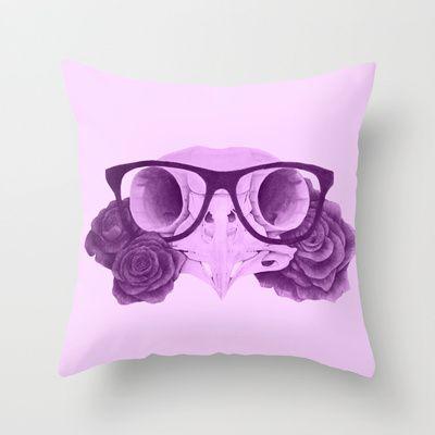 Owl skull & Roses Tattoo Pillow