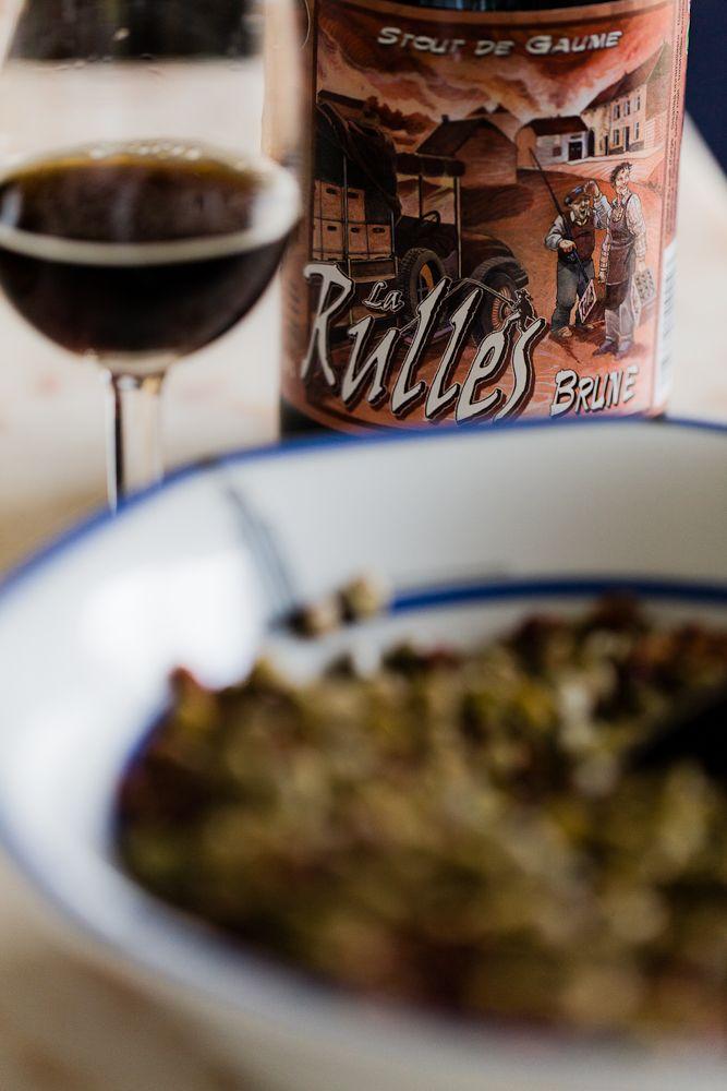 Beer pairing : La Rulles Brune et salade de lentilles aux lardons