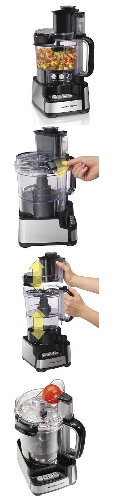 Small Kitchen Appliances: Hamilton Beach 12-Cup Stack And Snap Food Processor (70725A) New -> BUY IT NOW ONLY: $48.7 on eBay!