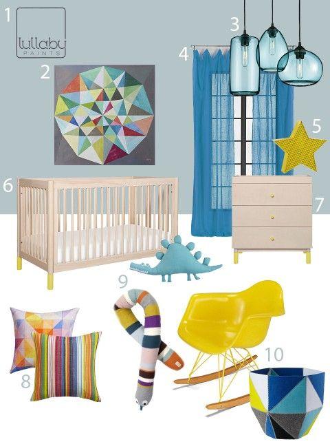 Here S Inspiration For A Modern Gender Neutral Blue Nursery Design