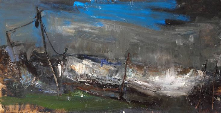 Salmon Nets, Joan Eardley. 1961–1962