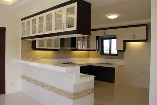 White shelved kitchen