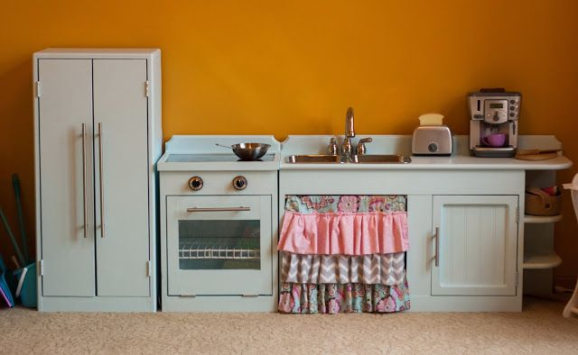 DIY Play Kitchen Three Little Blessings: