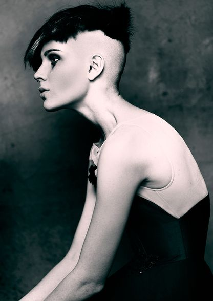 half shaved hairstyle