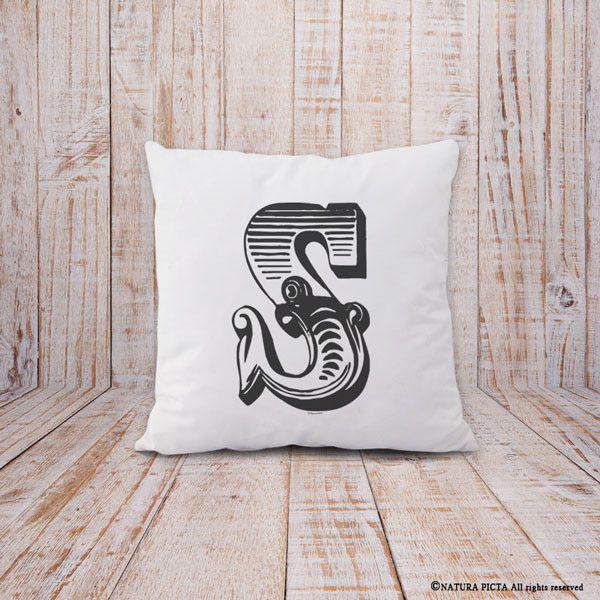 Cuscini - Copricuscino con iniziale personalizzata-cuscino - un prodotto unico…