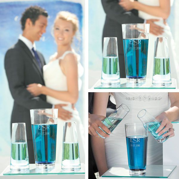 Aqua Wedding Unity Set