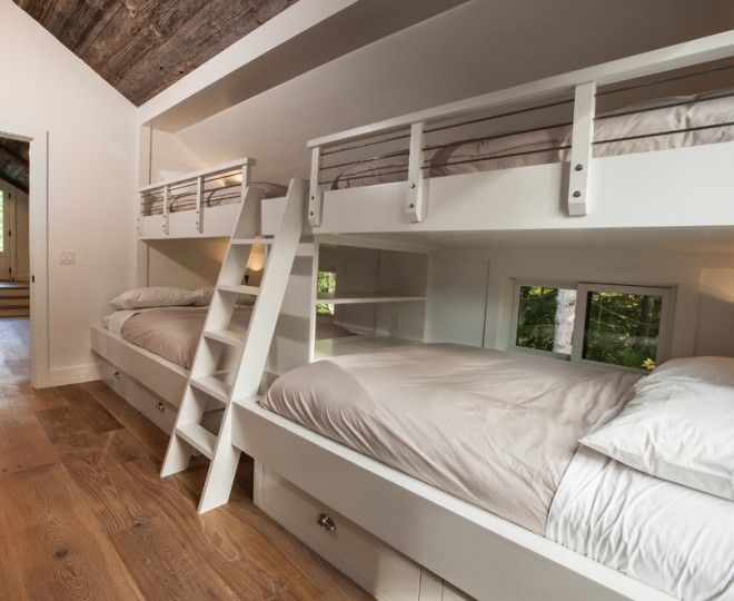 Beautiful Bunk Beds With Stairs trend Other Metro Transitional Kids Decorators with barn built-in beds bunk beds bunk room kids bedroom Nana wall neutral colors pool