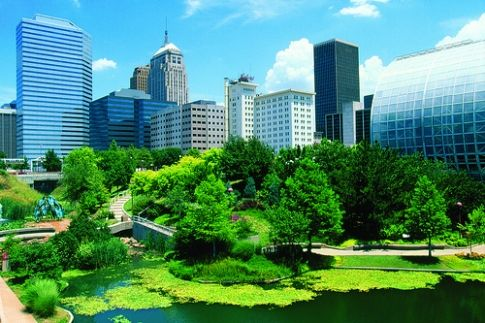 Right in the middle of downtown Oklahoma City, explore the Myriad Botanical Gardens and Crystal Bridge Tropical Conservatory.