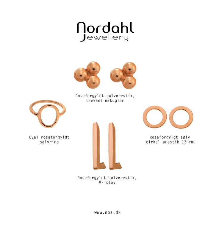 Rosaforgyldt efterår. Rose gold plated autumn.  Earrings, rings, ringe & øreringe <3