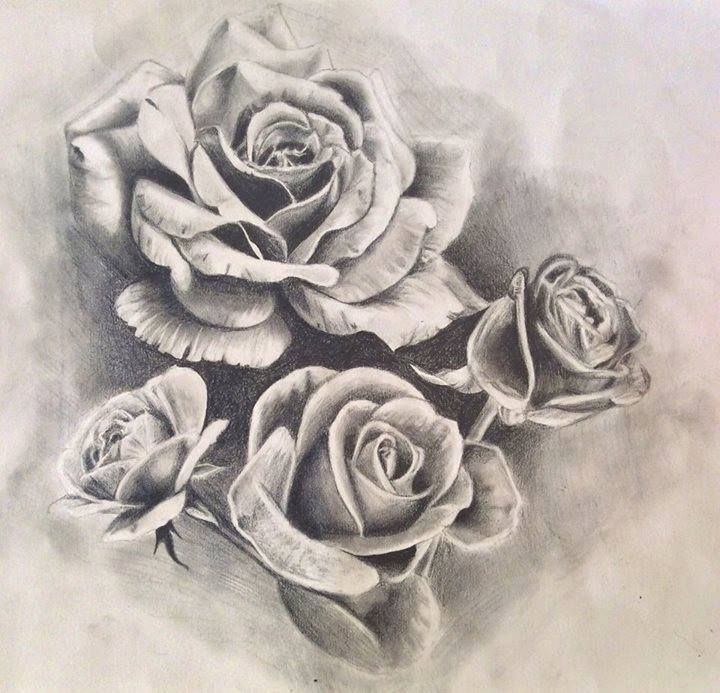 Roses tattoo design/drawing by PufferfishCat.deviantart.com on @DeviantArt