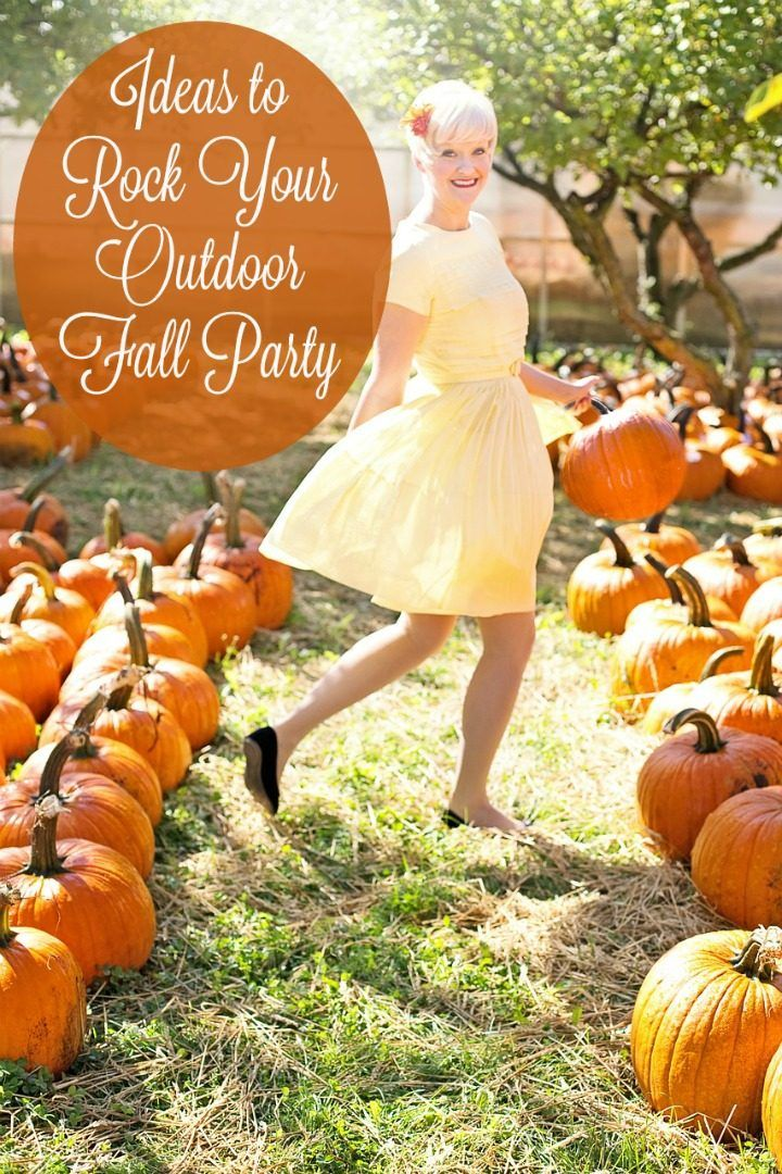 Rock Your Outdoor Fall Party With These Ideas