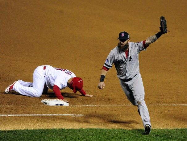 Red Sox World Series 2013 Game 5 Pick-Off Win !! First time this has ever ended a game in World Series History!