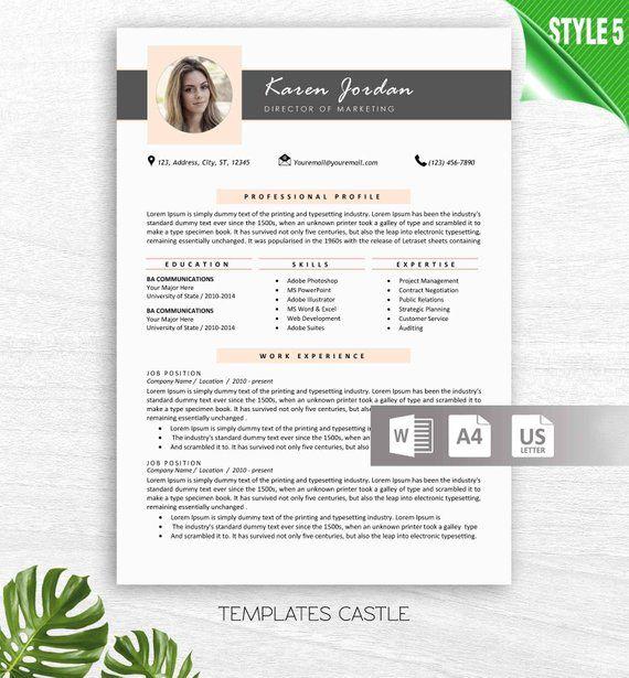 Modern Resume Template Cv Templates Cover Letter Creative Etsy In 2021 Modern Resume Template Resume Design Modern Resume Design