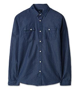 Heren Vrijetijdhemd in donkerblauw –  C&A
