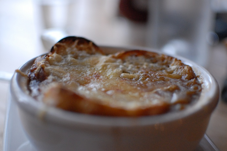 French Onion Soup- at the A Town Bistro! http://www.caramelizelife.com http://www.weymullerphotography.com