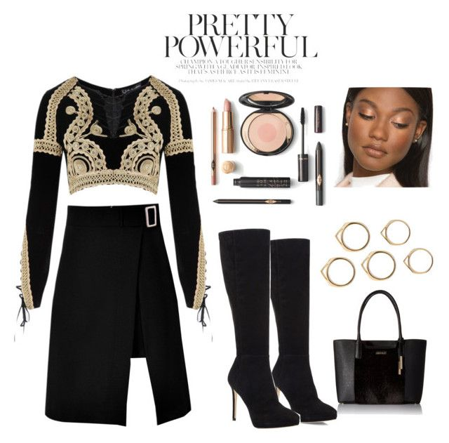 gold on black: classy & minimalist by srsstreetcouture on Polyvore featuring polyvore, fashion, style, For Love & Lemons, storets, Jimmy Choo, Calvin Klein and clothing