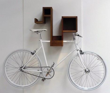 shelf + bike rack