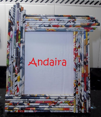 Frame made of paper rolls