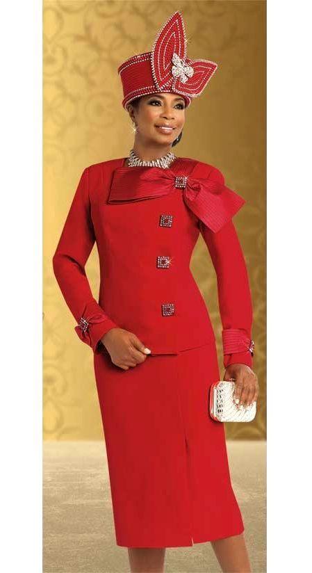 49e6abf117a6a Donna Vinci Suit 11506-Red