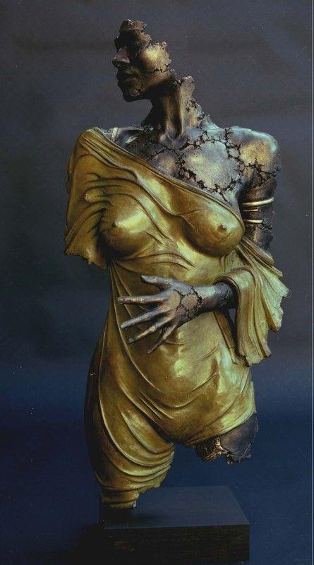 patricia fragment - Photo de philippe morel: bronzes - Philippe Morel sculpteur...la vie de l'atelier.