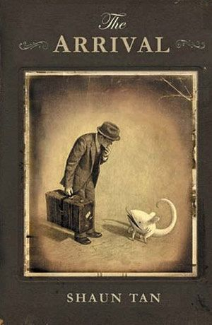 Shaun Tan wrote The Arrival which is a wordless graphic novel. The story portrayed by the detailed, imaginative, and interesting pictures is the web of several different immigrants, from the view points of refugees and immigrants.