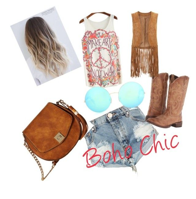"""boho"" by paola-diaz-ii on Polyvore featuring One Teaspoon, Gabriella Rocha, Victoria Beckham, Roper and Monsoon"