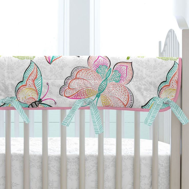 Bright Damask Butterflies Crib Bedding by Carousel Designs.