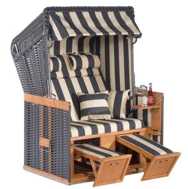 Sombra, reposapiés, un lugar para poner tu piña colada - esta silla ¡lo tiene todo!