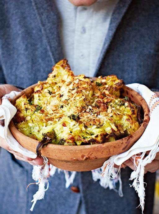 La+cucina+tradotta+di+Jamie:+Gratin+di+cavolfiore+e+broccoli+al+formaggio