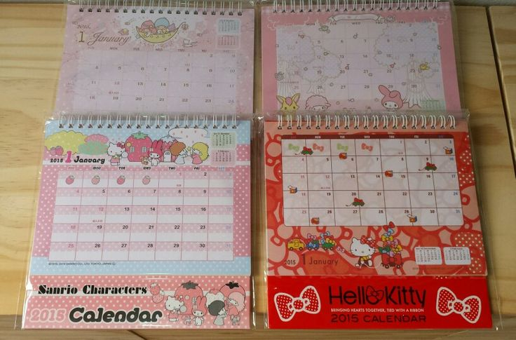 Calendarios 2015. #kawaiiunracodiferent
