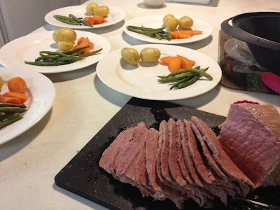 Corned beef Dinner in Thermomix