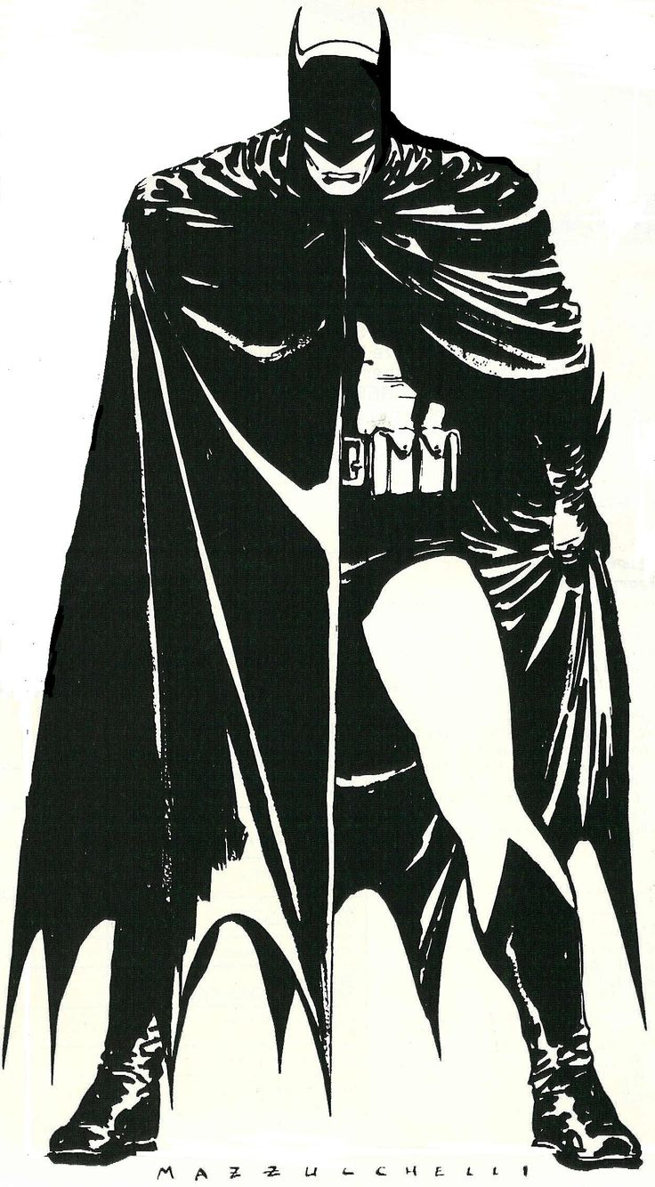 Menacing. Batman Year One, David Mazzucchelli