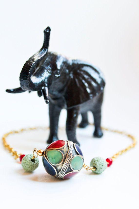 Exotic and Colourful Turkish Beaded Necklace #handmadeinitaly #ravenwritingdesk #travelinspiredjewelry #exoticcolorful