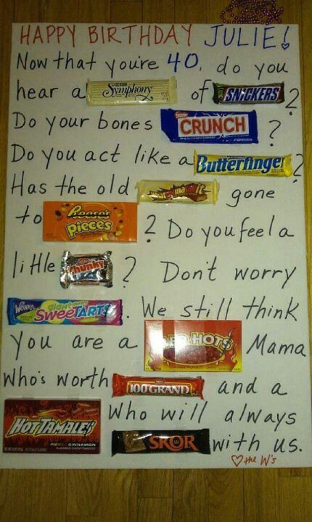 Candy Bar Poem 50thbirthday 50th Birthday Poems 40th Birthday Gifts Birthday Candy Candy Birthday Cards