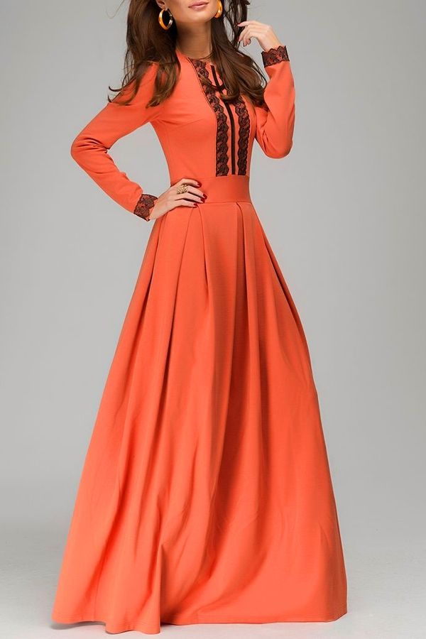 Jewel Neck Black Lace Splicing Dress