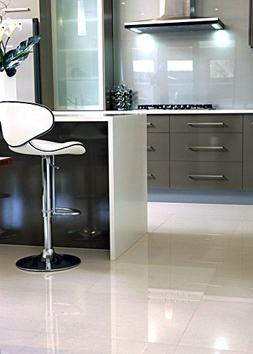 polished porcelain tiles with hazing