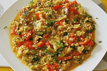 Couscous - Gemüse - Pfanne mit leichter Käsesauce