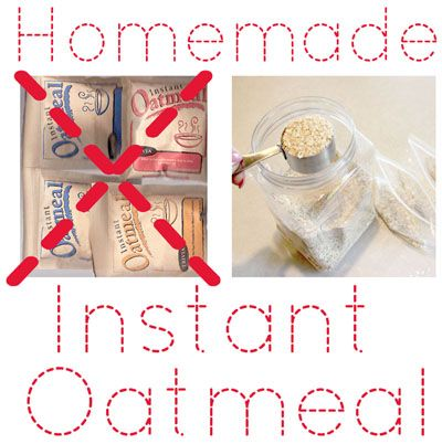 "The ""Secret"" To Making Homemade Instant Oatmeal Packets"