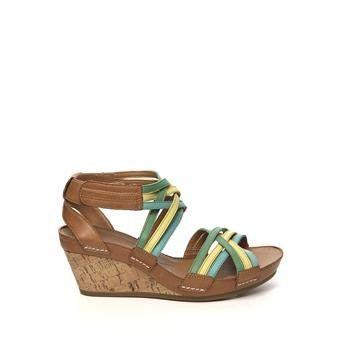 Clarks - multi color sandalen  #hogehakken #highheels