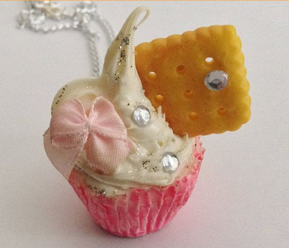 Cupacke Cookie Necklace